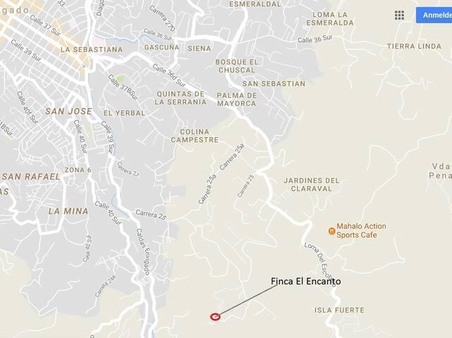 Ubicacion Google Maps el Encanto