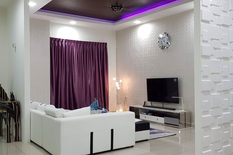 """Living Hall with Sofa and 55"""" smart TV"""