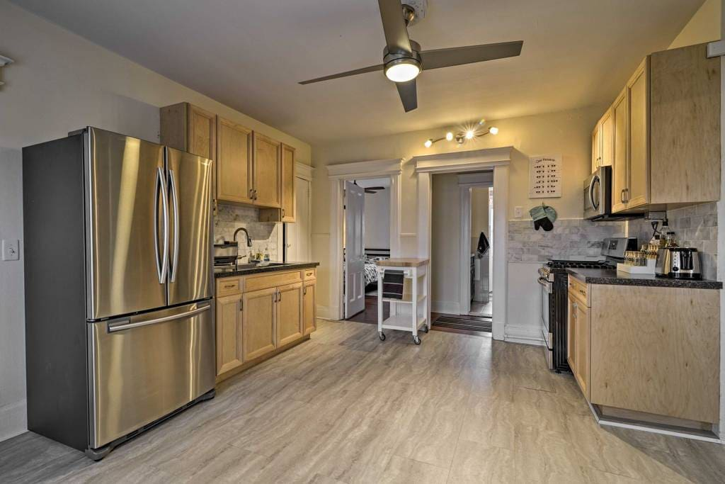 Newly Remodeled Kitchen with brand new appliances and lots of extra space.