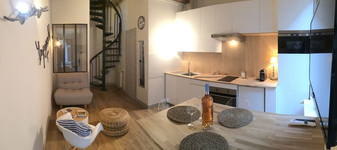 La Passerelle, Duplex avec balcon - Quai de Saône