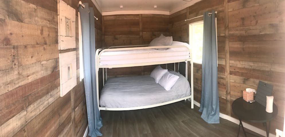 Double bunk beds inside the Cabin