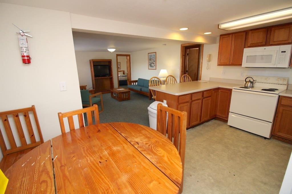 Kitchen and Dining Area of the 3 Bedroom Cottage