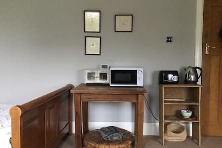 Large, light double room with private bathroom. - Cardiff - Rumah