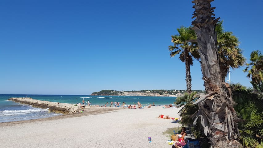 Six Fours , appartement 4 pers proche plage