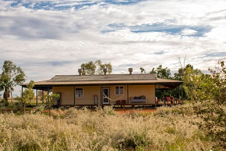 Cappock Cottage - situated at Bullara Station - is a 3 bedroom private and very spacious cottage with timber verandas and a lovely outlook over the home paddock