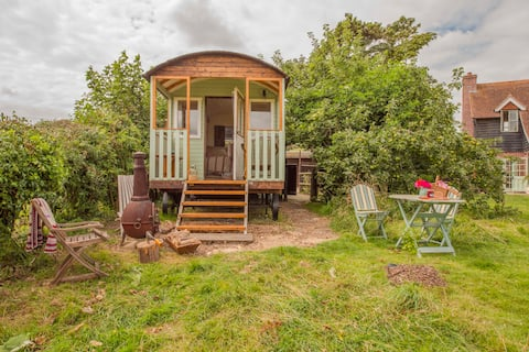 Simply lovely South Downs Shepherd hut