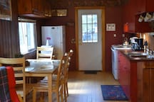Fully equipped, eat-in kitchen has everything you need (except the food).