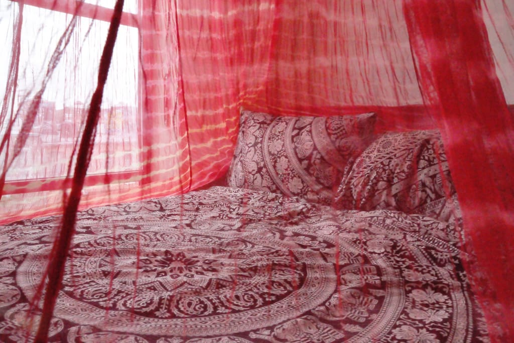 Option for a canopy above your bed to make you feel a little more royal. :-)