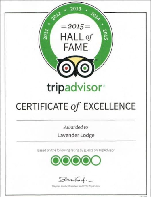 Hall of fame achievement of excellence for 5 consecutive years