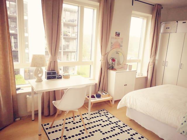 Spacious, cozy and bright room in Copenhagen!