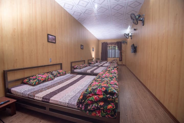 A Private Room with 04 Queen Beds for 8 persons