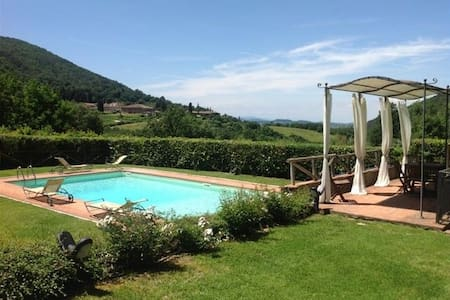 Chianti house with pool - Greve in Chianti - Huis