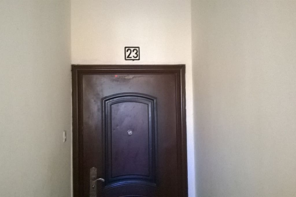 The door and house number