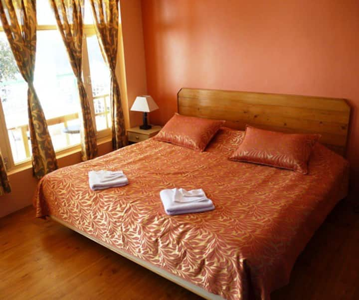Cosy room with breathtaking views of Kangra Valley