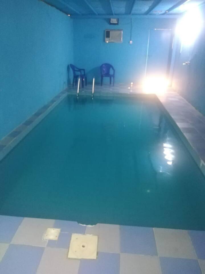 فلة غرفتين وحمام مع مسبح وحوش