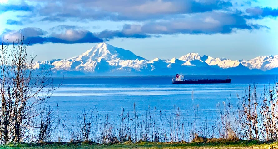 Discover Kenai Glacier View Cottage on Waterfront
