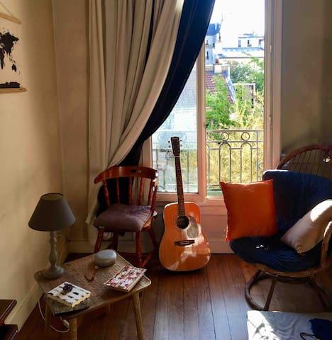 Chambre cosy, appartement proche Montmartre