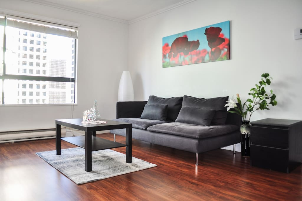 The living room: Simple and Chique