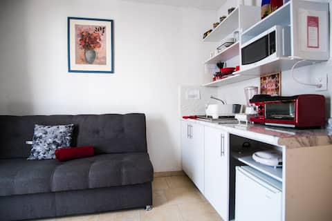 F2, king bed apartment, clean, private and safe.