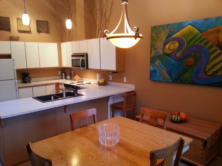 Dining area seats 6-8. Kitchen is well equipped.