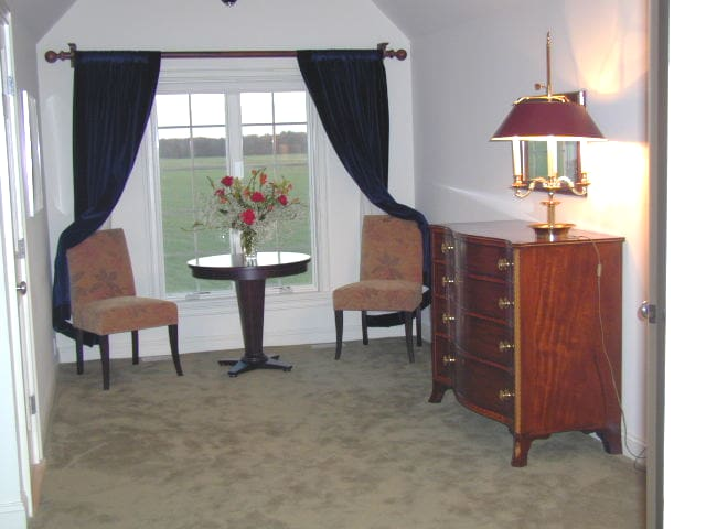 Master Bedroom with unobstructed farm view