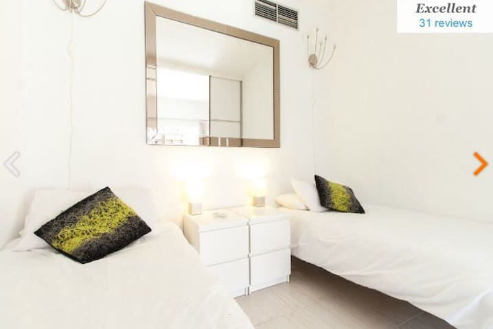 Fully Enclosed Bedroom Choose Two beds or One Huge King Size )  All Have Memory Foam for a perfect nights Sleep