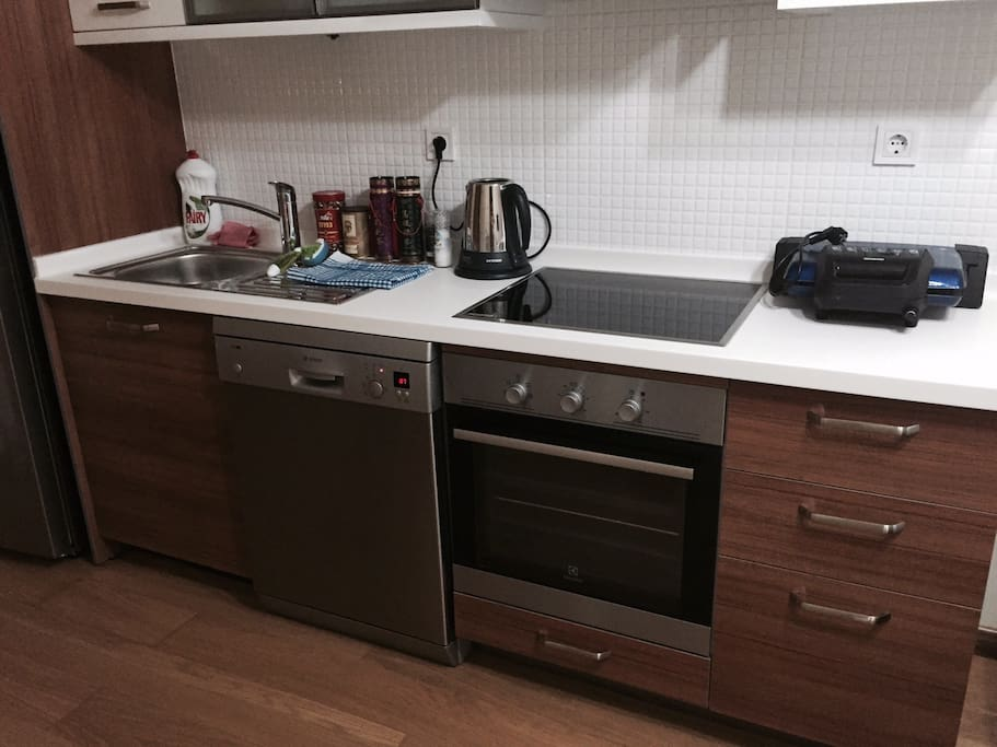 kitchen with all utensiles