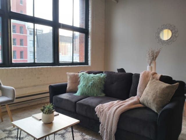 Unique + Updated  Centrally Located 1BR Loft