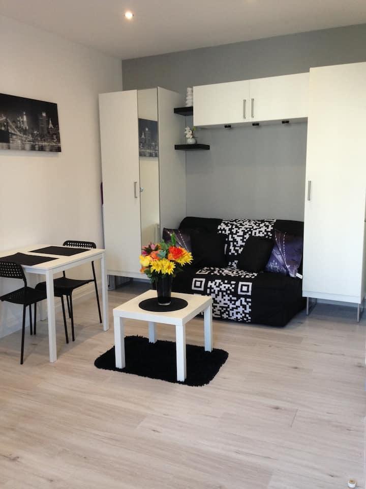 Studio 20m2 centre AIX LES BAINS meublé/équipé 2*
