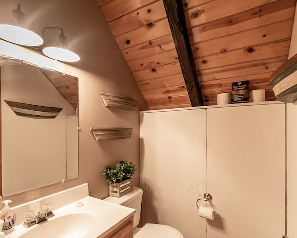 Upstairs powder room with toilet only