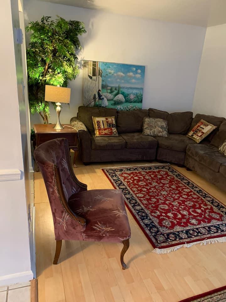 A large nice 3 bedrooms 2 1/2 bath end unit home