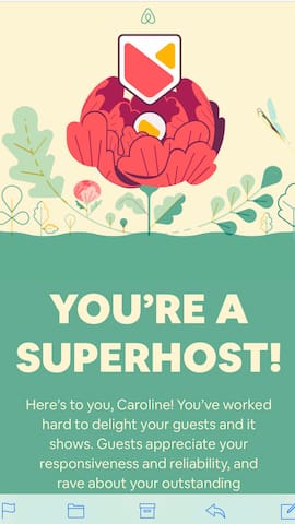 Book w / confidence, we have earned SuperHost status 3 years in a row !