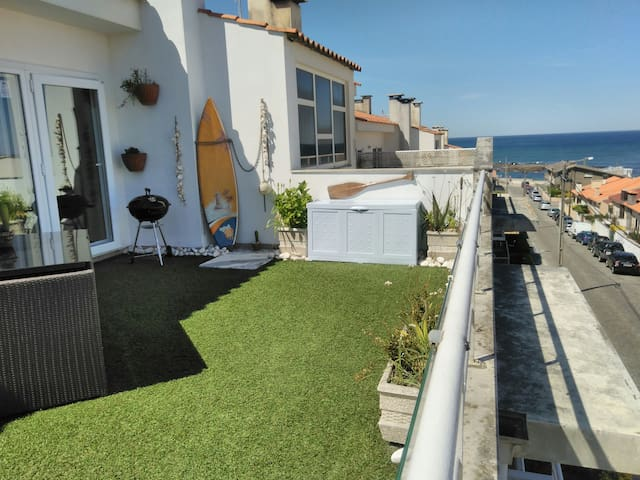 Vila Chã beach flat/terrace/sea views/snooker/2/4p