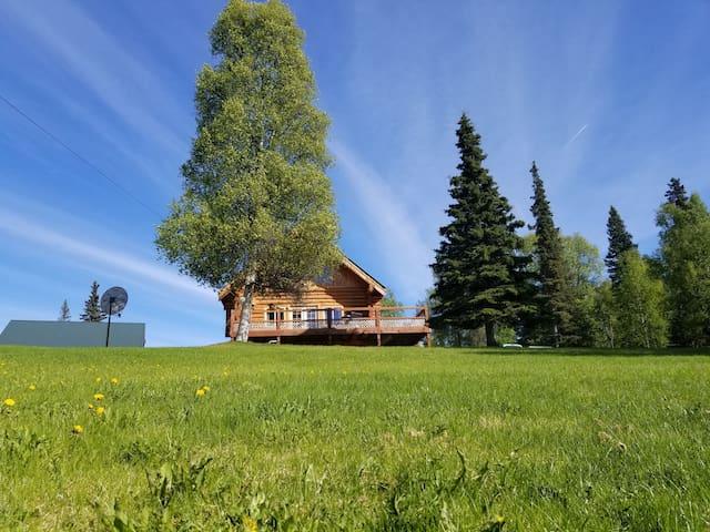 Kenai lakefront log home