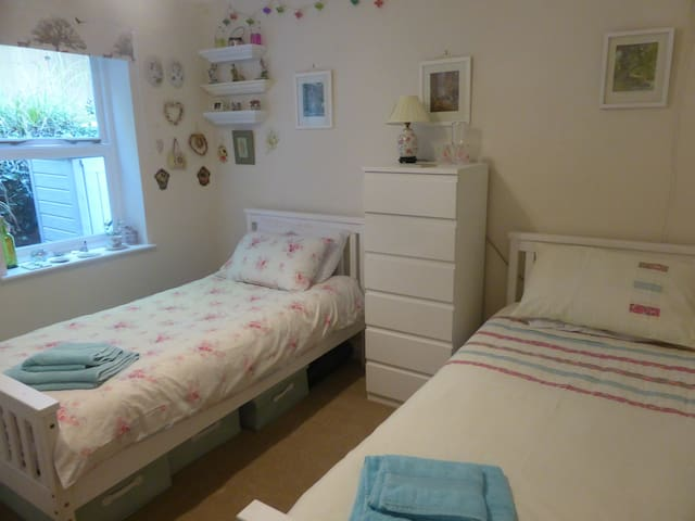 Newly decorated bright, clean small twin room - Bournemouth - Huoneisto