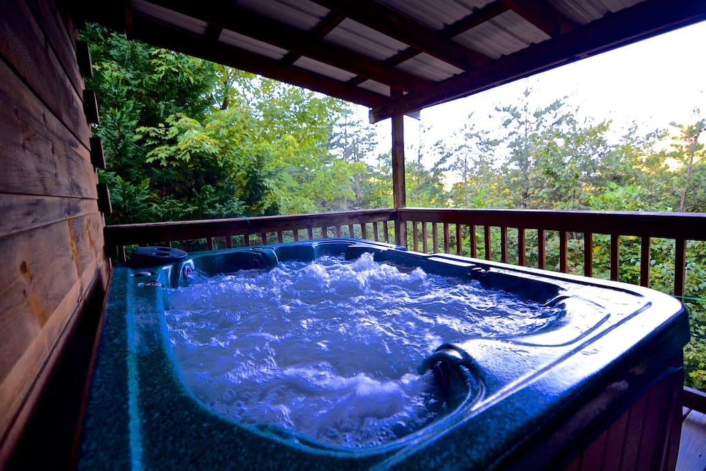 Hot tub to soak away the troubles