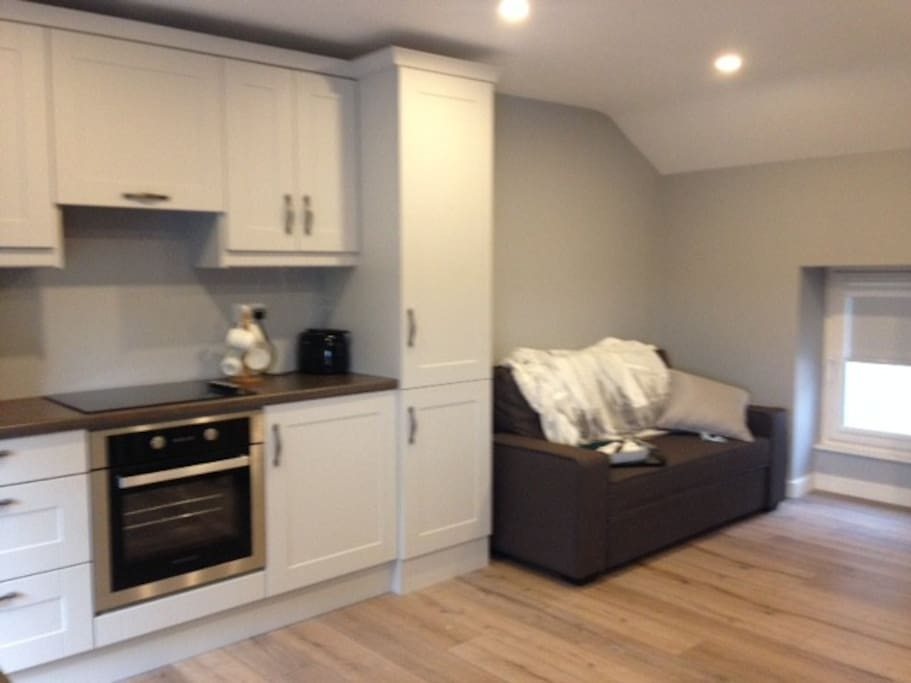Kitchen and pull out sofa