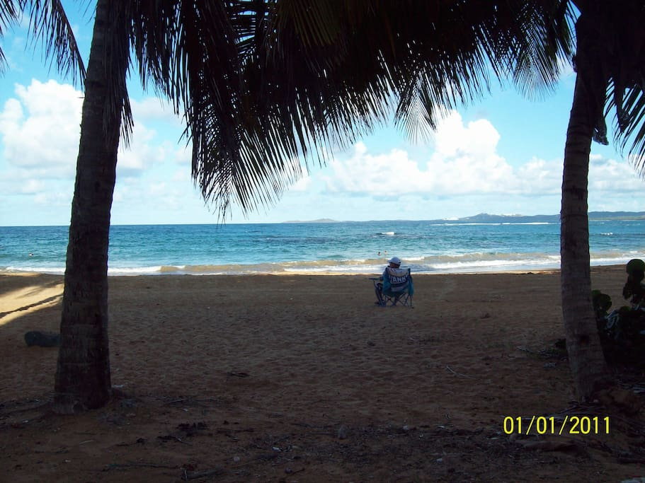 Luquillo beach walking distace of the condo.