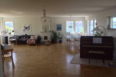 Barnvänligt radhus, gångavstånd till Storsjöcupen - Östersund