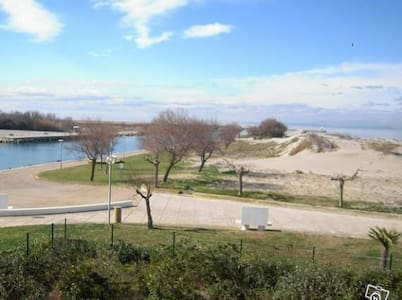 Studio vue mer 50 m de la plage Port Camargue - Le Grau-du-Roi