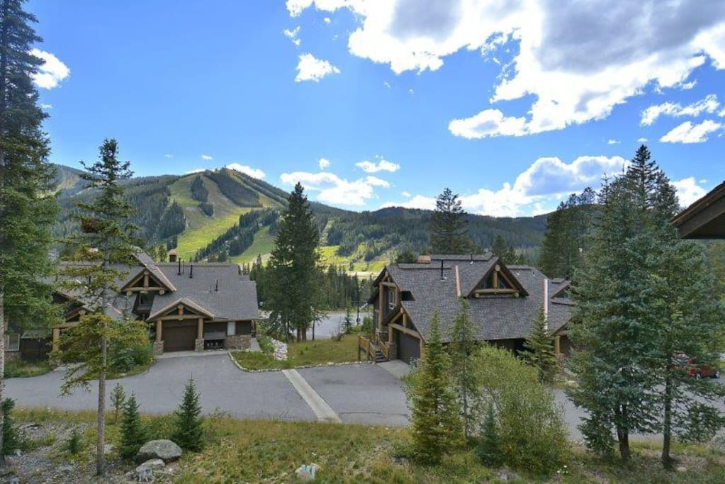 Take in the gorgeous blue skies and slope views
