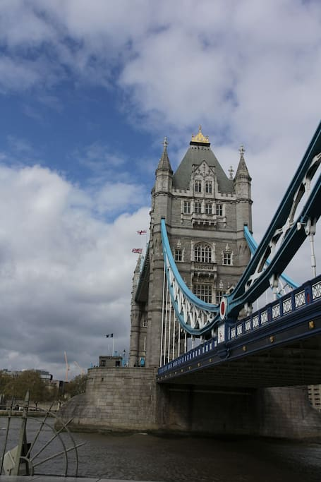 10 mins by bus from Tower Bridge - direct bus!