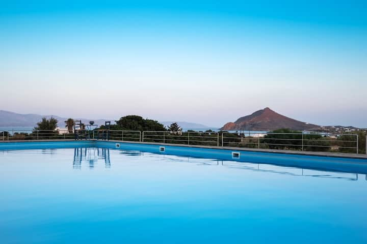 Hus med 3 soverom i Isterni med fantastisk havutsikt, tilgang til svømmebasseng, balkong - 500 m fra stranden