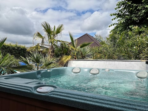Luxury cabin: swimming pool, sauna, jacuzzi at Emmen