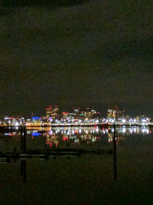 Boston Skyline reflecting off the water
