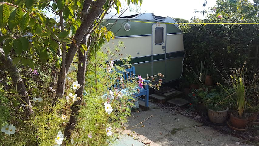 Isle of Wight Retro Caravan in Ryde , near country