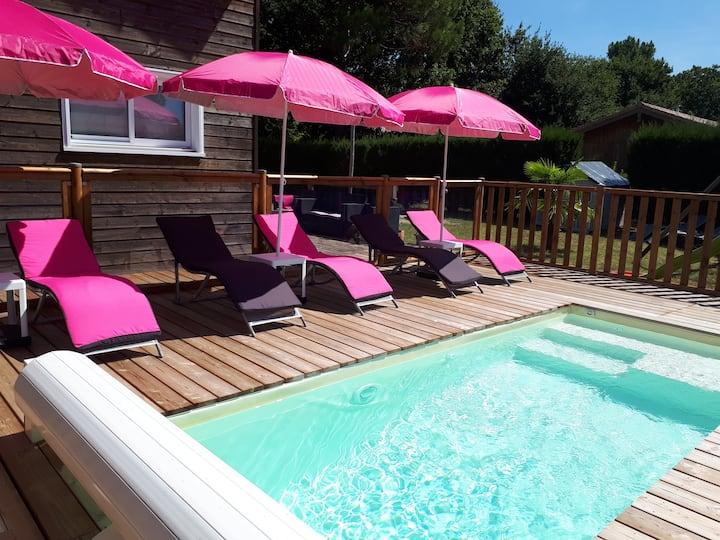 La Valentine: Villa avec piscine au lac d'Hourtin