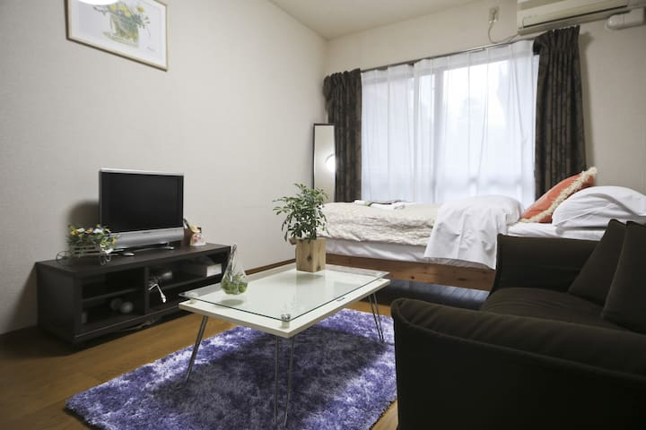 1 min to Station Cozy Shinjuku Flat w/wifi - Shinjuku-ku - Apartment