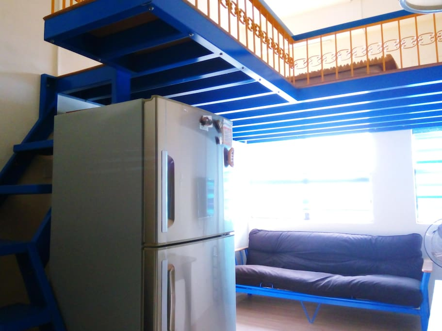 Stairs, Fridge, Couch