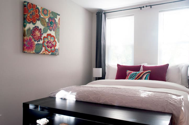 Clean, comfortable guest room after a long day!
